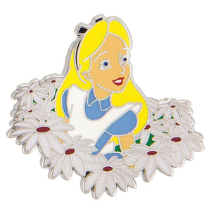 Disney Parks Alice in Wonderland with Flowers Pin New with Card