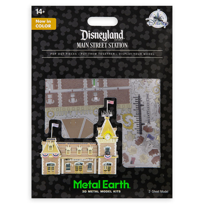 Disney Disneyland Main Street Station Metal Earth 3D Model Kit New with Card