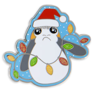 Disney Parks Porg Holiday Star WarsThe Ladt Jedi Pin New with Card