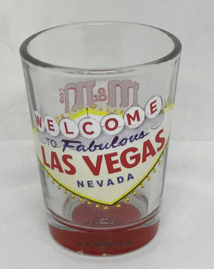M&M's World Welcome to Fabulous Las Vegas Sign Lentil Shot Glass New