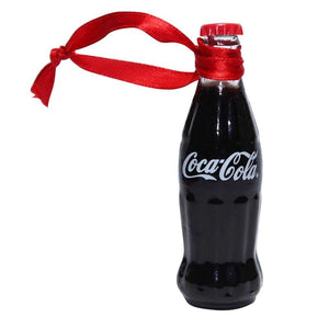 Authentic Coca Cola Coke Mini Bottle Painted Christmas Ornament New with Tags