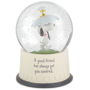 Hallmark Peanuts Snoopy and Woodstock Good Friends Snow Globe New