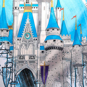 Disney Parks Ink & Paint Throw Walt Disney World New with Tags