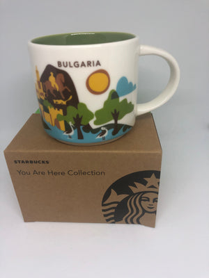 Starbucks You Are Here Collection Bulgaria Ceramic Coffee Mug New Box