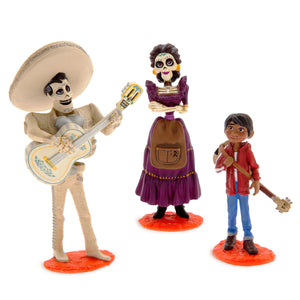 Disney Store Coco Deluxe Figurine Set Figure Cake Topper Play Set New with Box