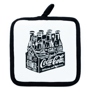 Authentic Coca-Cola Coke Chalk Talk 6 Pack Pot Holder New with Tag