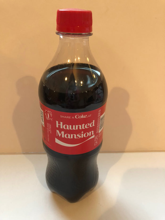 Disney Parks Share a Coke at Haunted Mansion Limited 20oz Plastic Bottle New