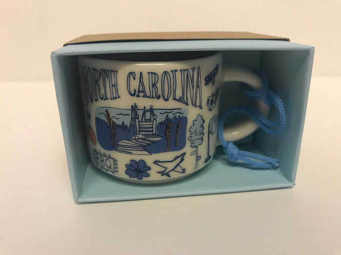Starbucks Coffee Been There North Carolina Ceramic Mug Ornament New with Box