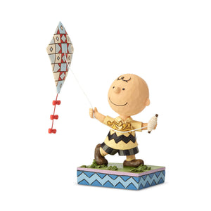 Peanuts Charlie Brown Flying Kite Jim Shore Figurine New with Box