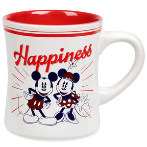 Disney Mickey and Minnie Mouse Happiness Ceramic Coffee Mug New