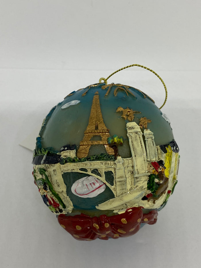 Disney Epcot Enesco France Paris Noel Christmas Ball Ornament New with Tag