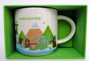 Starbucks You Are Here Vancouver Canada Ceramic Coffee Mug New with Box