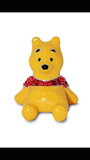 Disney Parks Winnie the Pooh Figurine by Arribas Swarovski Jeweled Mini New Box