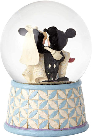 Disney Jim Shore Traditions Mickey and Minnie Wedding Waterball New with Box