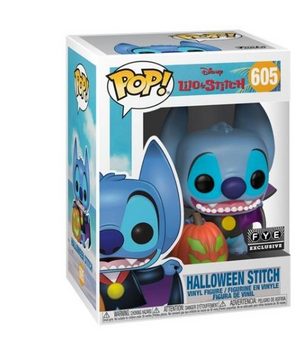 Funko Pop! Disney Halloween Stitch as Dracula Fye Exclusive New with Box