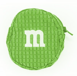 M&M's World Green Logo Coin Purse Plush New with Tags