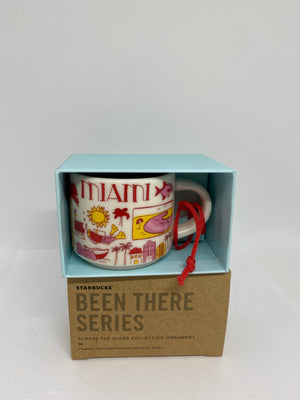 Starbucks Coffee Been There Miami Florida Ceramic Mug Ornament New with Box
