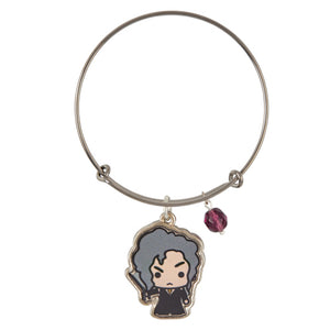 Universal Studios Harry Potter Bellatrix Lestrange Gold Charm Bangle New w Tag