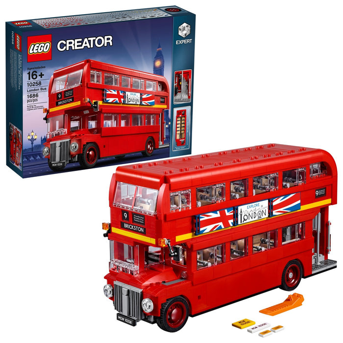 Lego Creator Expert London Bus 10258 Building Kit (1686 Piece) New