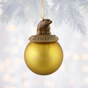 Universal Studios Harry Potter Hufflepuff House Ball Christmas Ornament New Tag