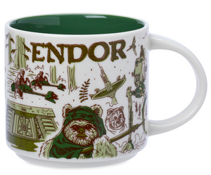 Disney Starbucks Been There Star Wars Endor Ceramic Coffee Mug New with Box