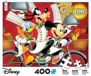Disney Time Together Mickey Goofy Donald Chef 400pcs Puzzle Ceaco New with Box