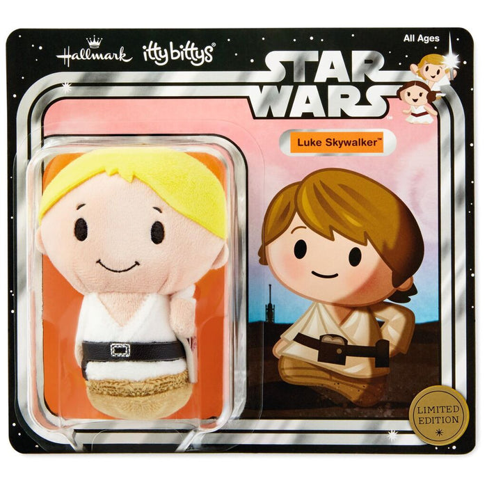 Hallmark Star Wars Luke Skywalker Limited Itty Bittys Plush New with Card