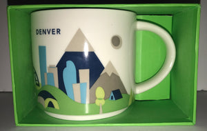 Starbucks You Are Here Collection Denver Colorado Ceramic Coffee Mug New