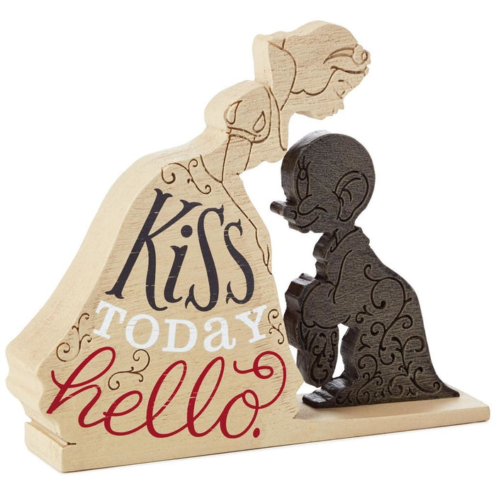Hallmark Disney Snow White Kiss Today Hello Quote Sign Figurine New