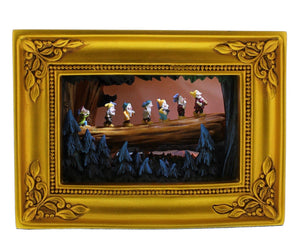 disney parks gallery of light olszewski snow white seven dwarfs going home new in box