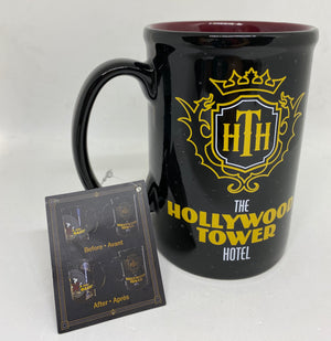 Disney The Hollywood Tower Hotel Mickey Drop In Changes Color Coffee Mug New