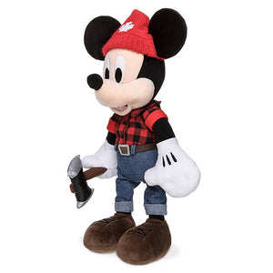 Disney Parks Epcot Canada Lumberjack Mickey Mouse Plush New with Tag