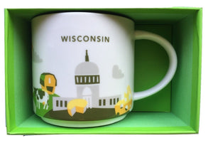Starbucks You Are Here Wisconsin Ceramic Coffee Mug New With Box