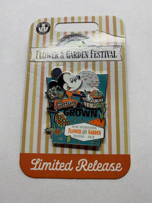 Disney Flower and Garden Festival 2020 Mickey Home Frown Pin Limited New w Card