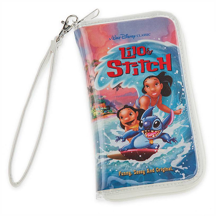 Disney Parks Lilo and Stitch VHS Case Clutch New with Tag