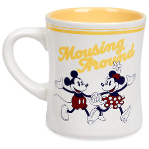 Disney Mickey and Minnie Mouse Mousing Around Ceramic Coffee Mug New