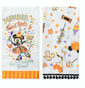 Disney Parks Halloween 2020 Minnie Mouse Witch Kitchen Towel Set New with Tag