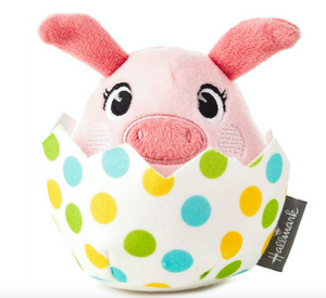 Hallmark Easter Pig Egg Pull String Toy Plush New with Tag