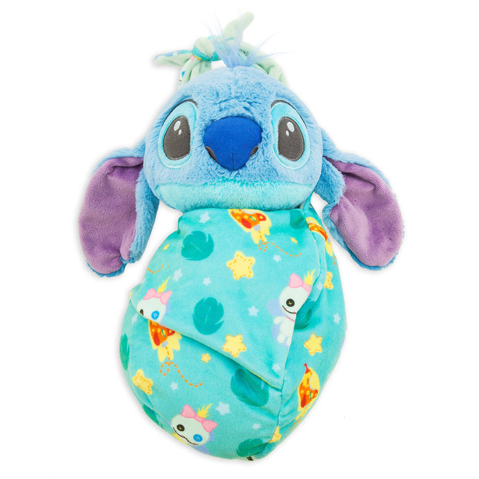 Disney Parks Baby Stitch in a Blanket Pouch Plush New with Tags