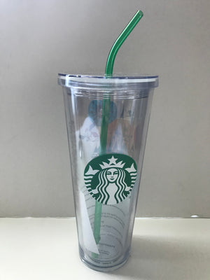 Disney Parks Starbucks Attractions Acrylic Tumbler with Straw 24oz New