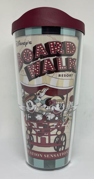 Disney Board Walk Resort Mickey Minnie A Vacation Sensation Tervis Tumbler New