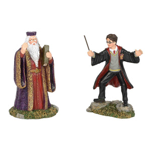 Department 56 Harry Potter Village Harry and The Headmaster Figurine New w Box