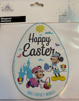 Disney Parks Walt Disney World Mickey and Minnie Happy Easter Magnet New Sealed