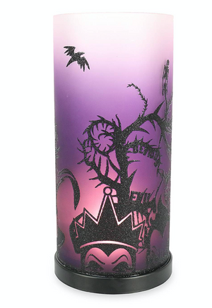 Disney Parks Halloween 2020 Villains Maleficent Glass Candle Holder Light Up New