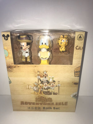 Disney Parks Shanghai Adventure Isle Mickey & Friends Bath Toys Set New with Box