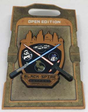 Disney Parks Star Wars Galaxy Edge Black Spire Outpost Land Pin New with Card