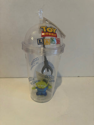 Disney Parks Toy Story Land Little Green Men Light Up Tumbler With Straw New