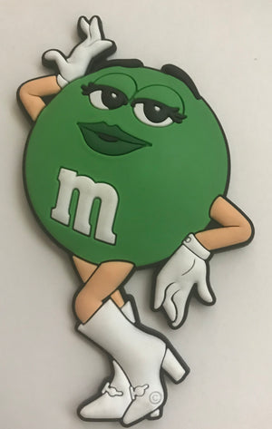 M&M's World Green Character PVC Magnet New