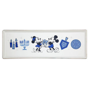 Disney Parks Holiday Mickey and Minnie Happy Chanukah Hanukkah Serving Tray New