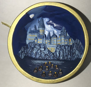 Universal Studios Harry Potter Hogwarts Castle Night New with Tags